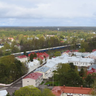 Hangö centrum kring Skolgatan.
