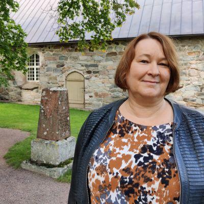 Uudenkaupungin rauhanpalkinnon saanut Kirsi Henriksson.
