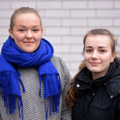 Dinah Ahl och Pia Bussman går i Ekenäs gymnasium.