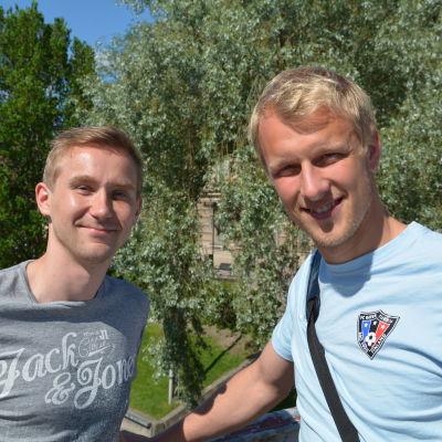 Janne Isaksson och Mathias Lindström