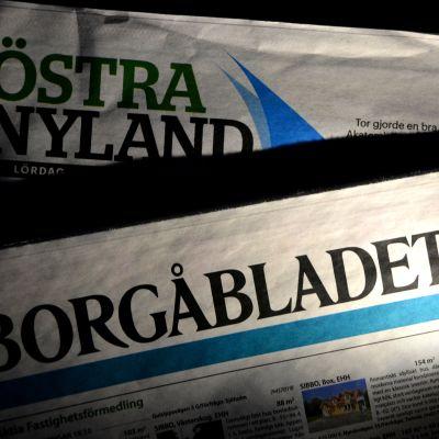 tidningarna östra nyland och borgåbladet