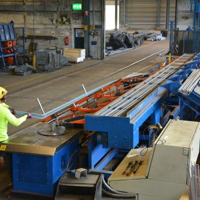 Armeringsståltillverkaren Celsa Steel Service i Åminnefors i Pojo.