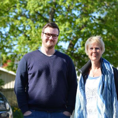 Fredagssnackarna Robert Lindberg och Birgitta Udd.