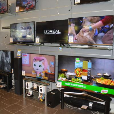 Tv monitorer i affär