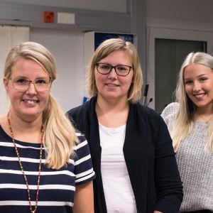 Susanna Back, Sofia Lillgäls och Isabel Widjeskog.