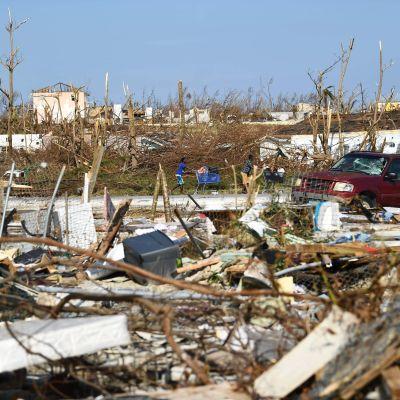 Förödelsen efter orkanen Dorian.