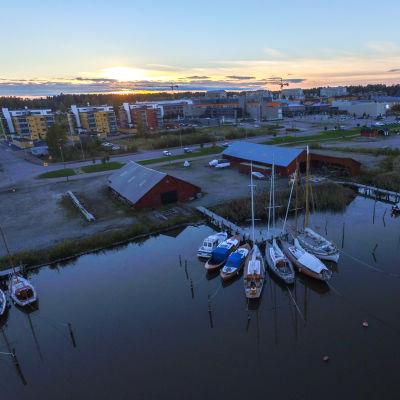 Flygbild över Borgå.