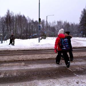 Övergångsställe över västra Mannerheimleden i Borgå