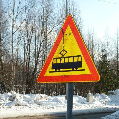 Varning för spårvagn
