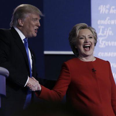 Trumpin ja Clintonin vaaliväittely