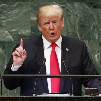 Donald Trump talar i FN:s generalförsamling 25.9.2018