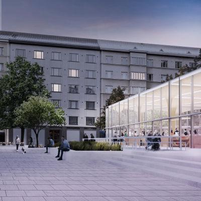 Arkkitehtitoimisto Konkret Oy:n ehdotus Two to One voitti Töölöntorin ideakilpailun.