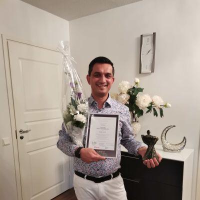 Vuoden positiivisin kotkalainen 2020 Nabil Niazi.