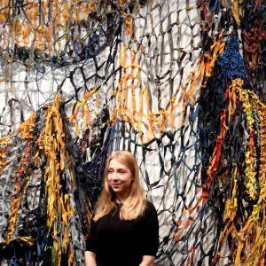 """Jenni Hiltunens verk på utställningen """"Tillsammans"""" på Kiasma sommaren 2014."""