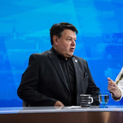 Kuvassa on Petteri Taalas Ylen tiloissa Pasilassa 24. lokakuuta 2020.