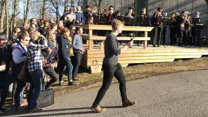 Publik och orkestern Humpsvakar.