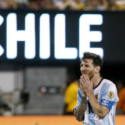 Lionel Messi i Argentinas tröja.
