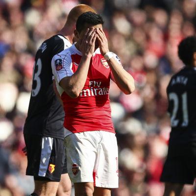 Ajajaj! Det blir ingen cuptitel för Arsenal.