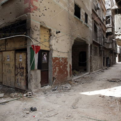 Bild från flyktinglägret Yarmouk i Damaskus våren 2015.