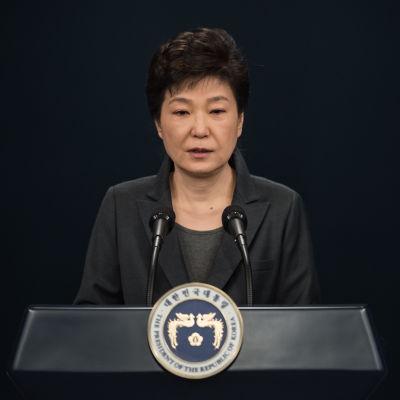 President Park Geun-hye höll ett tal till nationen 4.11.2016 då hon bad om ursäkt för sitt handlande.