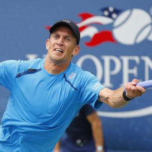 Jarkko Nieminen spelade sin sista Grand Slam-turnering i USA 2015.