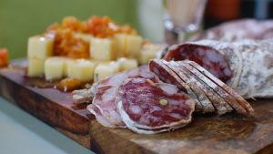 salami och ost