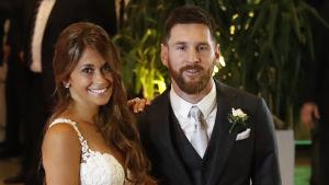 Antonella Roccuzzo och Lionel Messi.