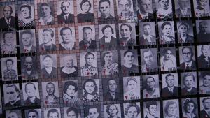 Bilder på sovjetiska krigsfångar på koncentrations- och förintelselägret Auschwitz-Birkenau.