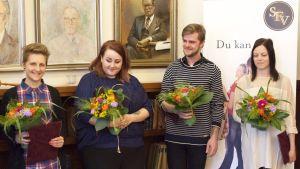 Från vänster: Martina Moliis-Mellberg , Ellen Strömberg, Otto Donner, Jenny Sandells
