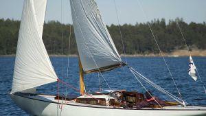 Stefan paavola seglar sin båt Aviva