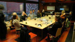 Morgonkaffe på planläggningen i Vasa
