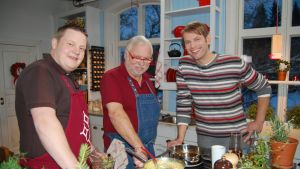 Michael, Leif och Matias lagar lutfisk
