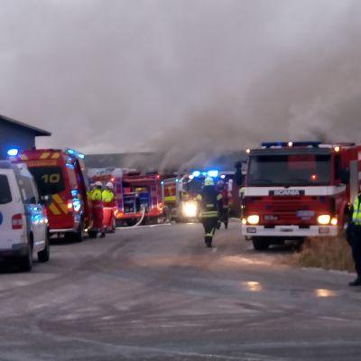 Den kraftiga branden i Rusko förorsakade kraftig rökbildning i området.