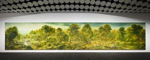 Petri Ala-Maunus landskapsmålning, History and utopia of landscape (2018-2019),  är 14 meter bred.