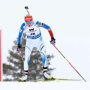 Kaisa Mäkäräinen var bäst på förstasträckan i Oslo.