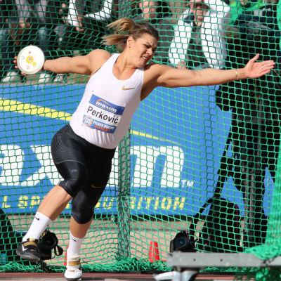 Sandra Perković vann diskustävlingen i Paavo Nurmi Games.