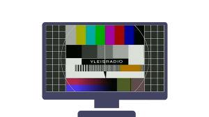 Televisio jossa virityskuva.
