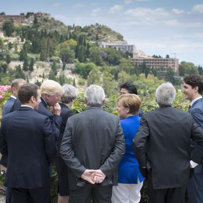 G7-ledare möts i Taormina på Sicilien.