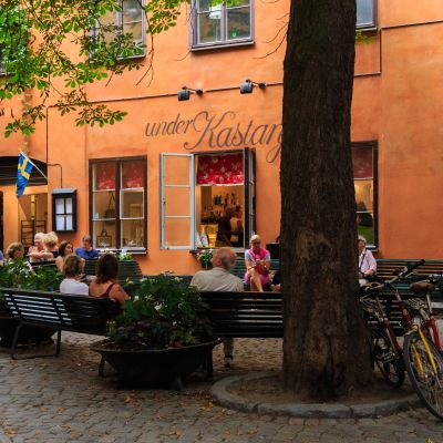 Ett café i Gamla Stan i Stockholm.