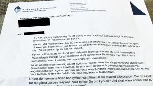 Ett brev, där Johannes församling skriver till en person som gått ur kyrkan.