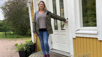 Linda Forsström är husmor på Skräddars gård i Ingå.