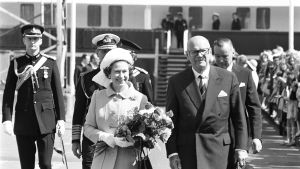 Drottning Elisabeth II besöker Finland 1976.