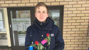 Bild på 22-åriga studerande Markus Myllyniemi.