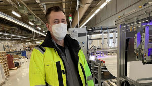 Thomas Nordlund är produktionschef vid Filterpak.