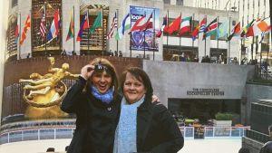 Janina Fry tog ofta med sin mamma på resa. Här är de tillsammans i New York år 2011.