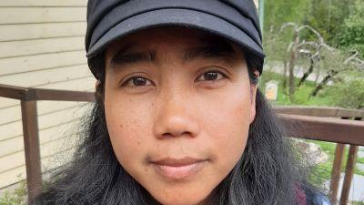 Hon bor i Pojo men rötterna finns i Myanmar. Filmskaparen Wai Mar Nyunt.