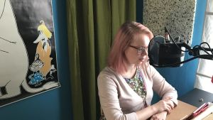 Maria Turtschaninoff läser in sin roman som ljudbok.
