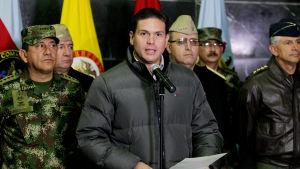 Colombias försvarsminister Juan Carlos Pinzon.