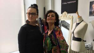 Tyra Therman och Angelika Klas-Fagerlund.