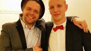 Tage Rönnqvist och Simon Ventus har varit inblandade i produktionen av Pleppo två och var väldigt nöjda med resultatet.